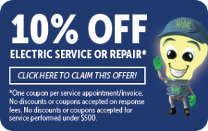 10% off of electrical service or repairs