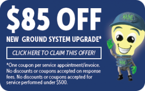 $85 off of your next electrical ground system upgrade