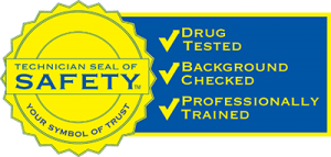 symbol of trust - technician seal of safety