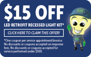 $15 off of LED reotrofit and recessed ligh kit