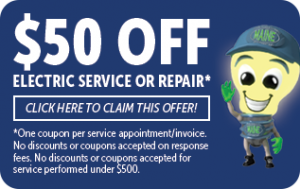 $50 off of electrical service or repair